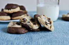 brown butter double fudge chocolate chip cookie dough cookies ..... A-mazing!