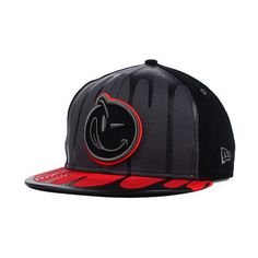 fa079cb582979 YUMS Black Tag Drenched 9FIFTY Snapback Cap ( 45) ❤ liked on Polyvore  featuring accessories