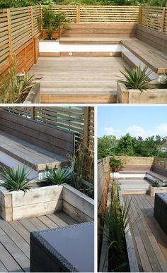 Terraza angosta Studio Satta // London Garden Designers