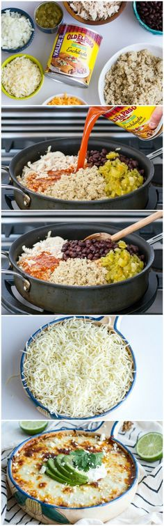 Chicken Enchilada Quinoa Bake. Have to make some substitutions but this would be a good meal!