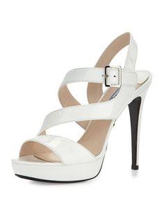 Patent+Asymmetric+Sandal,+Bianco+by+Prada+at+Neiman+Marcus; $665.00