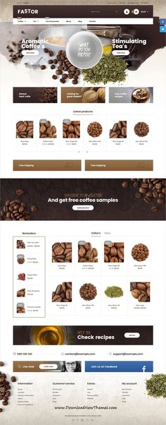 Fastor is clean, stylish and modern design responsive WooCommerce #WordPress #themes for stunning #tea and #coffee shop eCommerce #website with 55+ niche homepage layouts to live preview & download click on image or Visit 👆