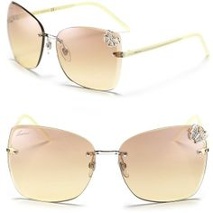 02ddbd00b943 Gucci Oversized Rimless Butterfly Sunglasses ( 395) found on Polyvore Gucci  Sunglasses