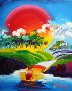 Without Borders - Peter Max One of my favorite paintings of all time!