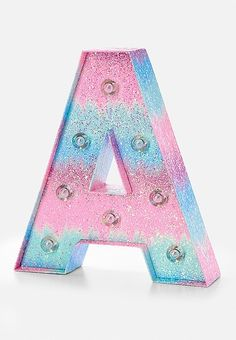 Ombre Initial Marquee Light | Justice