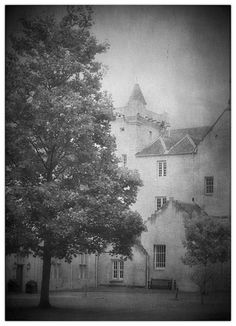 Brodie Castle again in northern Scotland, UK. This time I fancied that olde look and played with a texture in photoshop #Mac    Interestingly, whilst on the tour inside this old home we learned two things:    One, it's not a castle! That just sounds good and gets the tourists in! It's actually a fortified home.....    Two, the old postal address for this place was just Brodie Castle, NB. !!    NB being: North Britain.    What an address, eh??? !!!  Brilliant :)