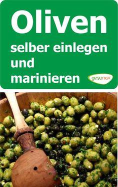 Kaum jemand hat selber schon einmal Oliven eingelegt oder mariniert. Wir zeigen Ihnen, wie einfach man selber frische, grüne Oliven einlegen und später marinieren kann.