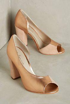 Guilhermina Rose Gold Heels