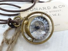 Brass Fob Pocket WATCH Leather Necklace Glass ORB Pendant Mechanical Skeleton Mechanical Watch, Leather Necklace, Steampunk Fashion, Skeleton, Pocket Watch, Brass, Watches, Pendant, Ebay