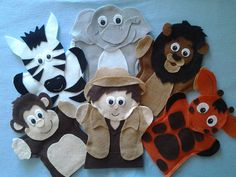 Felt hand puppets. Hey, I found this really awesome listing at http://lisapuppetmaker.com