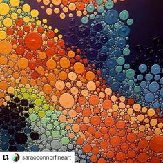 #Repost @saraoconnorfineart with @repostapp ・・・ Day 3: The #pointillism #journey continues! #abstractart #abstract #octopus #rainbow #color #dots #dot #saraoconnorfineart #art #painting #acrylicpainting #photooftheday #workinprogress #nofilter