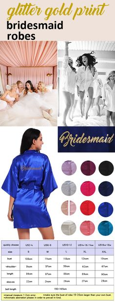 c3e5200711 Customize Bridesmaid Gold Print Short Plain Satin Kimono Cheep Robe Wedding  Party Robes Bridesmaid Kimono Bathrobe Party Favors Gift Free Wedding Favors  ...