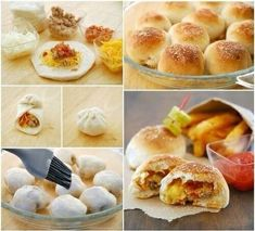 🍕Pizza Tutorials🍕 Like 4⃣ More👍 #TipIt Bacon Cheeseburger Pizza, Yummy Snacks, Yummy Food, Yummy Yummy, Mini Pastries, Food Tags, Bread Bun, Bread Pizza, Bread Rolls