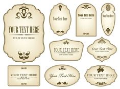 Free Decorative Label Templates | Simple bottle label 01 - Vector Other free download