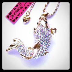 Selling this BETSEY JOHNSON SWAROVSKI CRYSTAL FISH NECKLACE in my Poshmark closet! My username is: cmccullough9. #shopmycloset #poshmark #fashion #shopping #style #forsale #Betsey Johnson #Jewelry