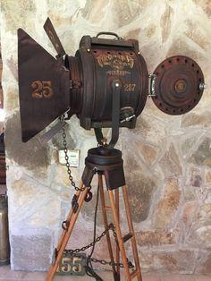 antiguos reflectores de cine decada del 40. manes marzano collection - vintage searchlight