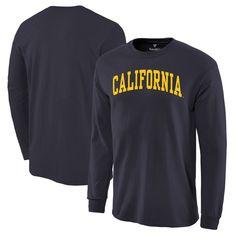 Men's Navy Cal Bears Basic Arch Long Sleeve T-Shirt