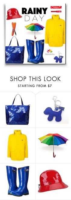 """Rainy Day Style."" by heylookylou ❤ liked on Polyvore featuring Bao Bao by Issey Miyake, Helly Hansen, Burberry, LOOKY, Bogs, Rimmel, Karen Kane, Lime Crime, rainyday and heylookylou"