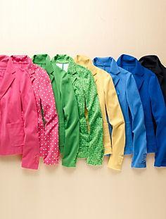 Ponté Knit Jacket I have light blue