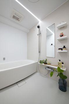 LEDライン照明の浴室。#浴室#ユニットバス#リフォーム#日吉#東急東横線#マンション#LED