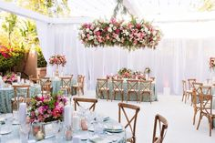 La Tavola Fine Linen Rental: Neiman Cerulean | Photography: The Youngrens, Venue: Rancho Valencia Resort & Spa, Planning: Crown Weddings & Events, Florals: Flowers Annette Gomez, Rentals: Theoni Collection, APR Boutique Event Rentals, More Inc and NFP Events, Lighting: Brilliant Event Lighting