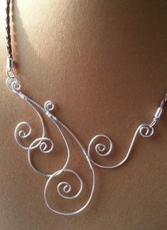 Swirling Waves of Silver OOAK necklace | auNaturaleJewelry - Jewelry on ArtFire $20 and ready to ship for Christmas!