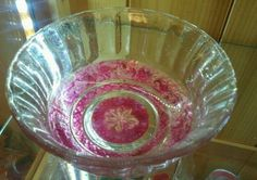 Pink Candy dish with plate