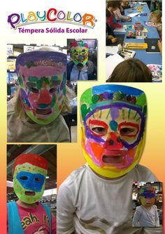 Playcolor, máscaras, taller, niños, pintar, dibujo, fun, draw, instant