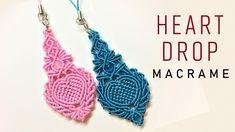Macrame keychain tutorial - The Heart drop of Elsa - Hướng dẫn thắt móc ...
