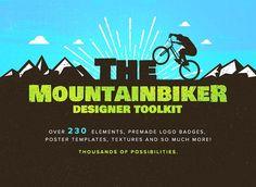The Mountainbiker -Designer Logo Kit  @creativework247