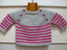Baby Knitting Patterns For Kids Langoz baby sweater pdf knitting pattern French & English