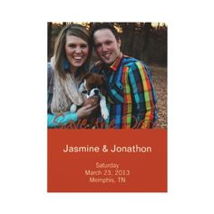 Pumpkin + Purple Photo Save the Date Wedding Cards Personalized Invites by twokissesphotography