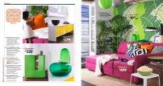 IKEA Catalog 2014 - pink sofa bed and colorful pillows