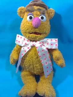 "Disney Store AUTHENTIC MUPPETS FOZZIE THE BEAR 16"" Stuffed Plush Toy"