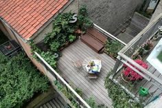 Copenhagen, Denmark The roof terrace seen from above (2014) - the apartment and roof terrace is located on 1st floor. https://www.airbnb.dk/rooms/6302496