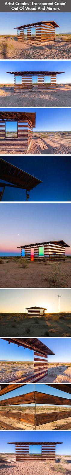 Transparent cabin.