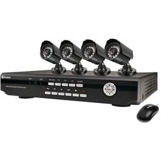 SWANN SWDVK-825504-US 8-CHANNEL DVR WITH 4 INDOOR/OUTOOR DAY/NIGHT VISION CCD CAMERAS-SCU825504 by Swann. $501.61. SWANN SWDVK-825504-US 8-CHANNEL DVR WITH 4 INDOOR/OUTOOR DAY/NIGHT VISION CCD CAMERAS8 CHANNELS; 500 GB HARD DRIVE; H.264 VIDEO RECORDER; NETWORKING & 3G PHONE CONNECTIVITY; UPNP ALLOWS FOR EASY NETWORK SETUP; USB PORT; INCLUDES 4 PRO 580 CCD, DAY/NIGHT CAMERAS; 480 LINES OF RESOLUTION