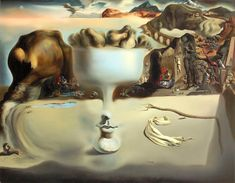 Apparition of Face and Fruit Dish on a Beach, 1938 by Salvador Dali Salvador Dali Oeuvre, Salvador Dali Tattoo, Salvador Dali Quotes, Salvador Dali Paintings, Salvador Dali Museum, Amy Brown, Dali Time, Salvador Dali Photography, Pablo Picasso