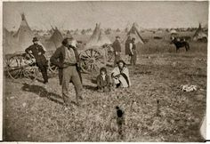 WAHPETON AT CAMP RELEASE  (MINNESOTA) , 1862