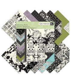 K & Company 12''x12'' Designer Paper Pad - Black & Ivory Fusion: papercrafting coordinates: scrapbooking: Shop | Joann.com