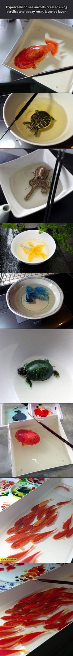 Hyperrealistic sea animals…: