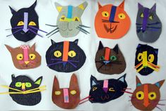 K Cat Collage and Drawing - Art with Mrs. Projects For Kids, Diy For Kids, Art Projects, Crafts For Kids, Arts And Crafts, Cardboard Crafts, Paper Crafts, Diy Origami, Art Lessons Elementary