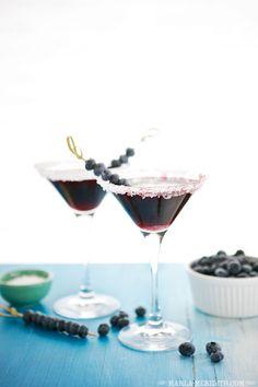 Blueberry Martini Cocktails | FamilyFreshCooking.com