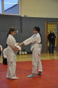 Aikido Kindertraining mit Aikido Kyuprüfungen in der Auhofschule, Linz - 8. April 2016
