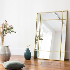 Art Deco double-sided glass mirror in brass-colored metal Wallis Green Dining Room, Art Deco Mirror, Home Decor Furniture, Plywood Furniture, Brass Color, Art Deco Fashion, Ladies Fashion, Fashion Fashion, Diy On A Budget