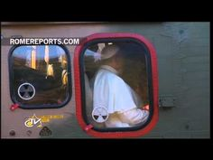 Pope shows his love, by outlining a heart by helicopter's window - YouTube | As he boarded a helicopter to meet with World Youth Day volunteers in Rio, Pope Francis made the sign of the Cross, before taking off. Then a few moments later, as crowds bid him farewell, the Pope used his fingers to outline a heart, by the helicopter's window.