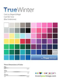 Bright Winter, tends to Spring Neutral Skin Tone, Cool Skin Tone, Colors For Skin Tone, Cool Tones, Cool Winter Color Palette, Deep Winter Colors, Color Combinations For Clothes, Color Me Beautiful, Color Harmony
