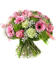 It is a Girl Bouquet! A bright, #pink #bouquet to celebrate the birth of a #new #baby girl..1 It's a Girl Bouquet.
