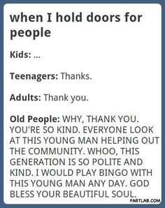Old people are the best!