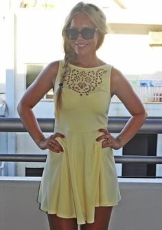 cute summer dress - great color to bring out your tan! If you like this picture - follow my pinterest @MuteFashion or visit my official blog: http://mutefashion.com/